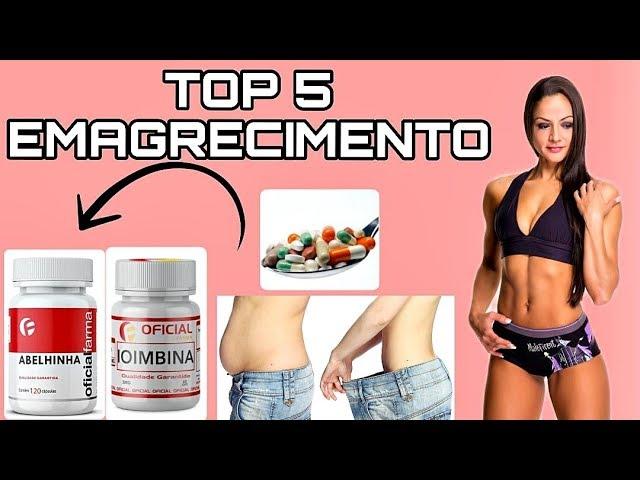 TOP 5 suplementos para EMAGRECER/SECAR GORDURA e PERDER BARIGA!