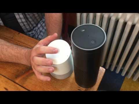 Amazon Echo talks to Google Home