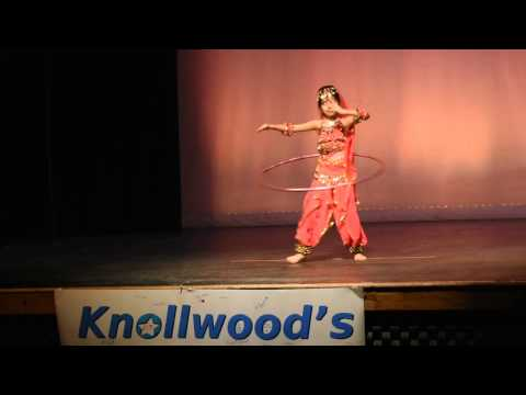 Azhage Azhage dance live Bharatnatyam Hula Hoop by Tannishtha