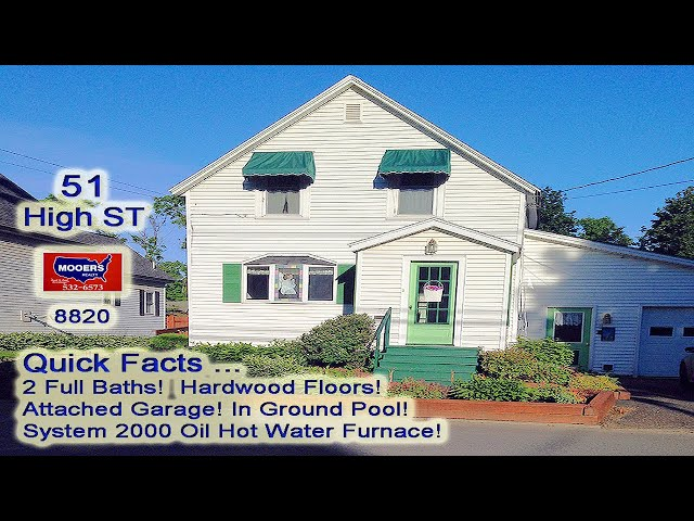 Real Estate Video | 51 High ST Houlton ME Home For Sale MOOERS REALTY #8820