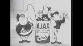 1955 TV-SPOT. Ajax Reiniger. Animation / Zeichentrick Ad.