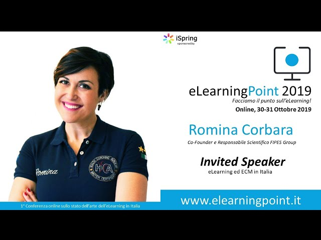 eLearningPoint 2019 - Intevrento della dott.ssa Romina Corbara