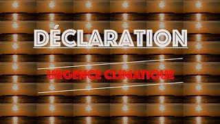 Déclaration d'urgence climatique – Extrait 3