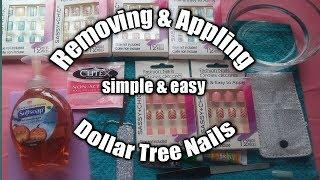 How to apply dollar tree nails