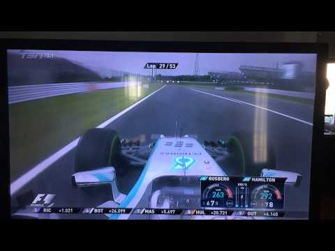Lewis Hamilton overtakes Nico Rosberg Japanese GP 2014