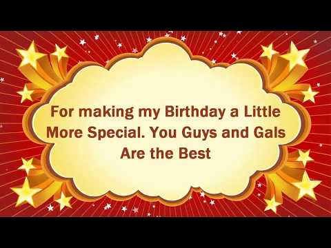 Thank You for Birthday Wishes and Messages Video 2017 Free Download | Birthday Wishes
