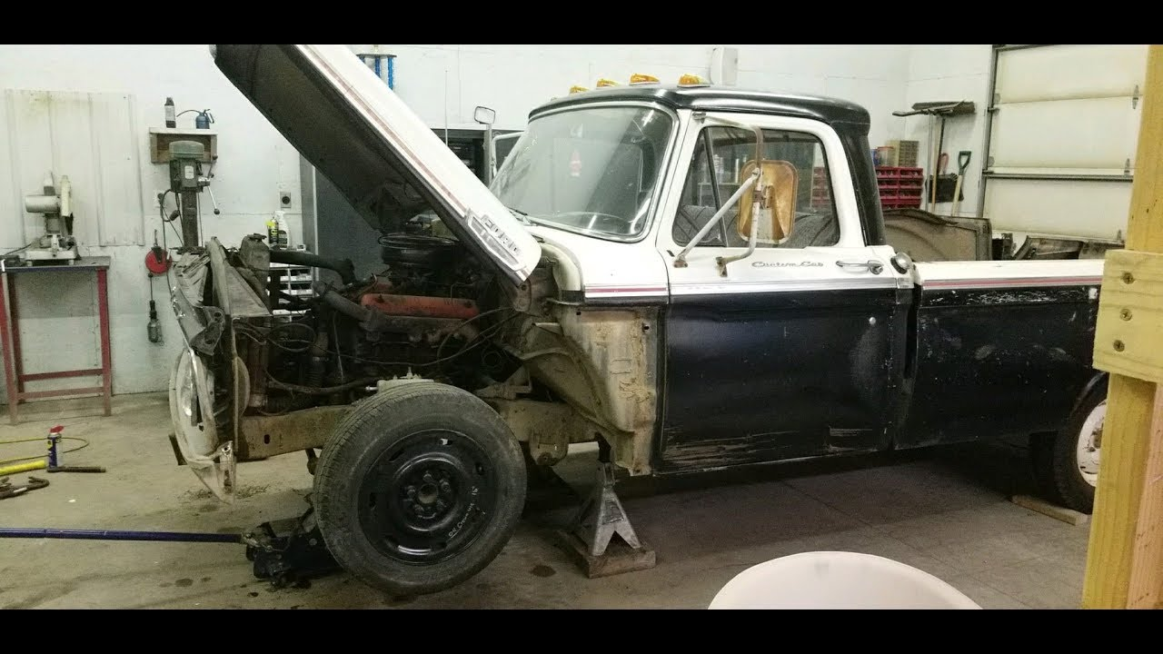 1964 FORD F-100 CROWN VIC INDEPENDENT FRONT SUSPENSION SWAP