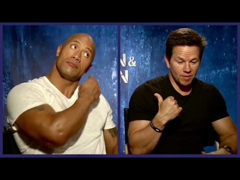 Talking Pain (and Gain) when Mark Wahlberg's son punched The Rock in the nuts