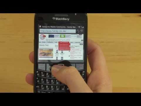 BlackBerry Bold 9780 Test Internet