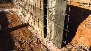 Design-build Narrow Lot Vlog #6  Erecting Concrete Forms
