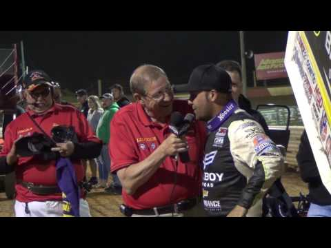 Lincoln Speedway World of Outlaws Victory Lane Interview 5-19-16