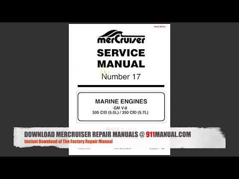DOWNLOAD MerCruiser 5.7 Repair Manual