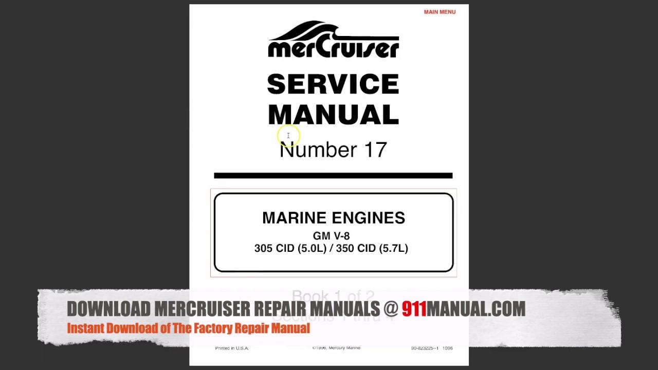 DOWNLOAD MerCruiser 5.7 Repair Manual - YouTube on