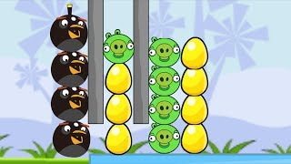 Angry Birds Bomb - BOMBER BIRD BLAST OUT ALL PIGGIES TO RESCUE GOLDEN EGG!