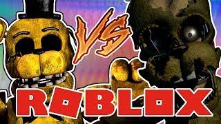 GOLDEN FREDDY vs SPRINGTRAP Roblox Animatronic World