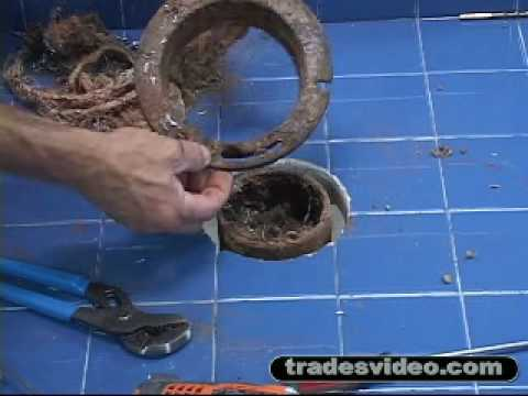 Toilet Installation And Replacement Cast Iron With Caulked Lead Joint You