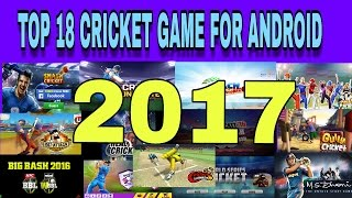 TOP 18 CRICKET GAME FOR ANDROID 2017
