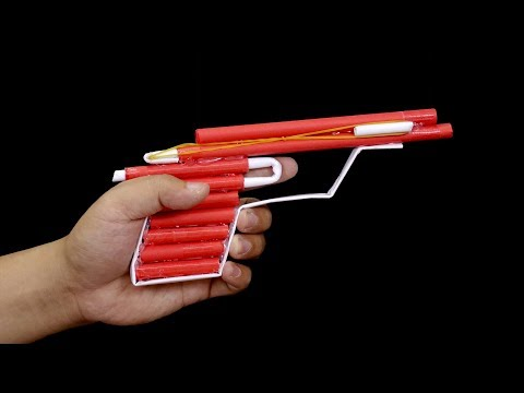 How to make a paper gun that shoots