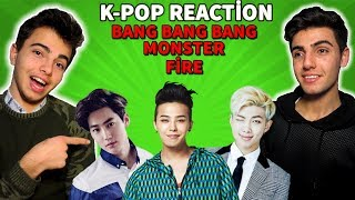 K-POP TEPKİ ! *BTS*EXO*BIGBANG* Fire Reaction-Monster Reaction-BangBangBang Reaction
