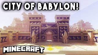 Minecraft Maps - CITY OF BABYLON (w/ Palace, Mind Blowing Pyramid,& Incredible!)