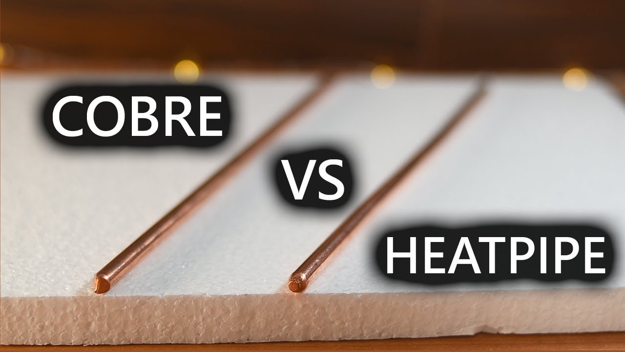Cobre Puro vs El Material más Conductor de Calor (Heatpipe)