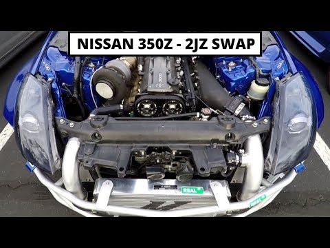 Nissan 350z 💥 2JZ Swap - YouTube