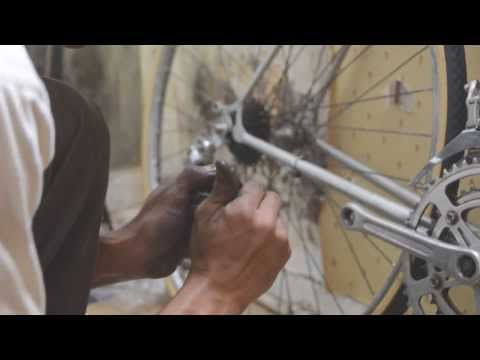 The restoration vintage bicycle