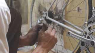 The restoration vintage bicycle