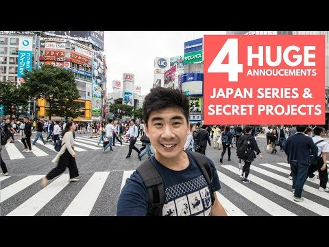 4 HUGE ANNOUNCEMENTS - JAPAN & UNVEILING NEW PROJECTS