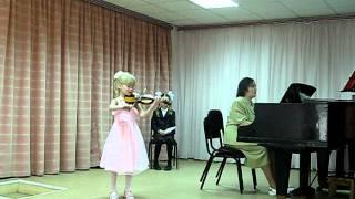Кондратьева Светлана, 6 лет. О.Ридинг, вариации