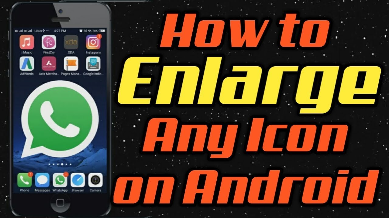 How to enlarge icons on samsung galaxy s8, Make Icons ...
