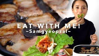 ひとりでサムギョプサルをひたすら作って食べるだけの動画。