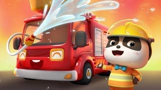 Baby Panda's Rescue Mission | Firefighter Rescue Team | Best Job Songs for Kids | BabyBus