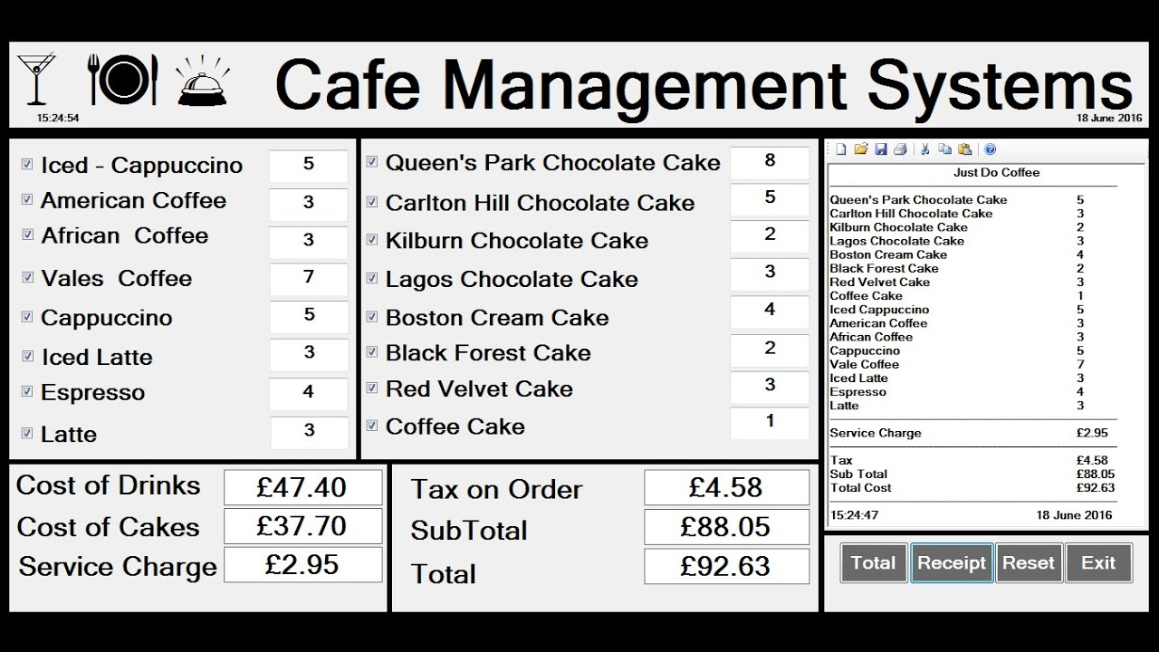 How to Create Cafe Management Systems in Visual Basic.Net