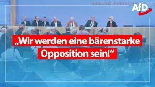 Pressekonferenz zu Wahlen in Brandenburg & Sachsen