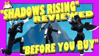 SHADOWS RISING Pack in FORTNITE *NEW* SHADOW Skins + ARRAY Wrap Bundle : Reaction Gameplay & Review