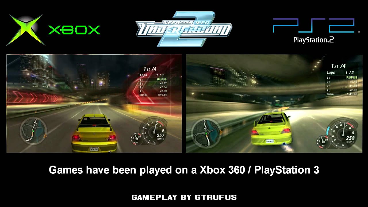 nfs underground 2 xbox vs ps2 youtube. Black Bedroom Furniture Sets. Home Design Ideas