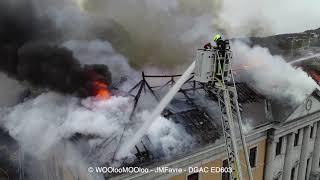 Un drone film un incendie pour aider les pompiers