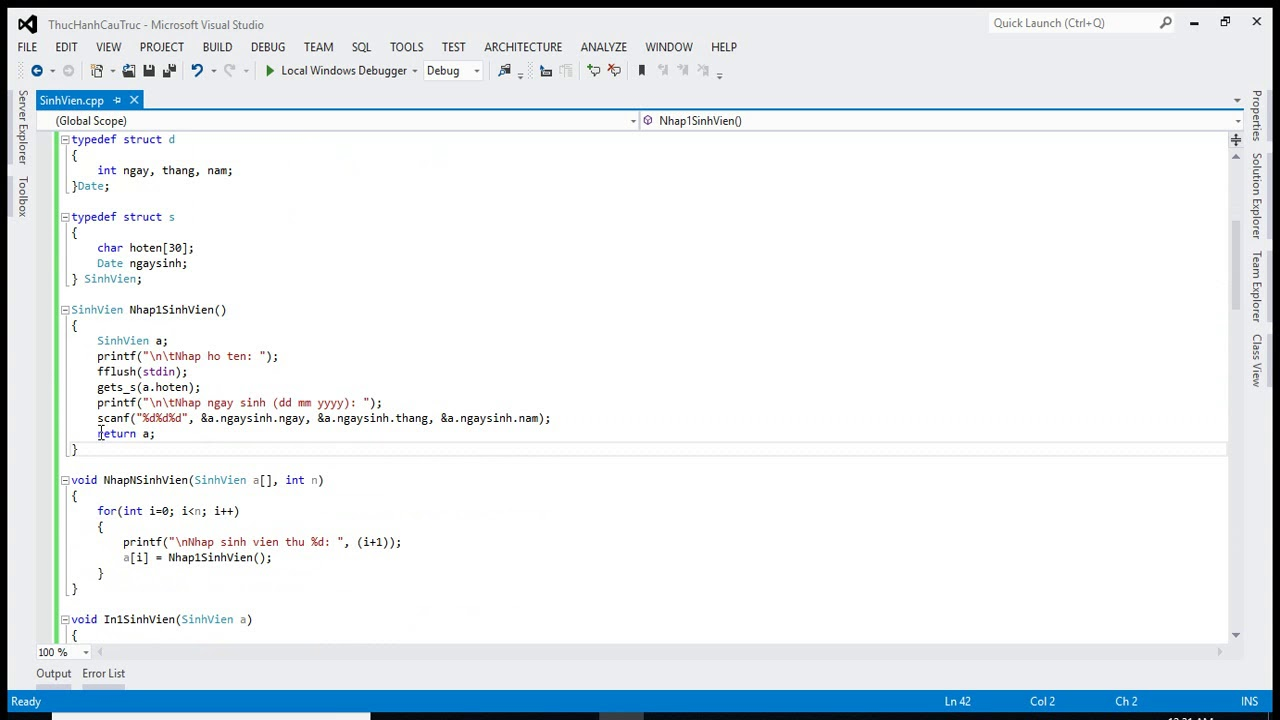 [Lập trình C++] – Bài tập tổng hợp về cấu trúc, con trỏ, mảng, đọc ghi tệp