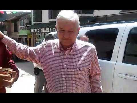 López Obrador en Guadalupe y Calvo, en la sierra de Chihuahua