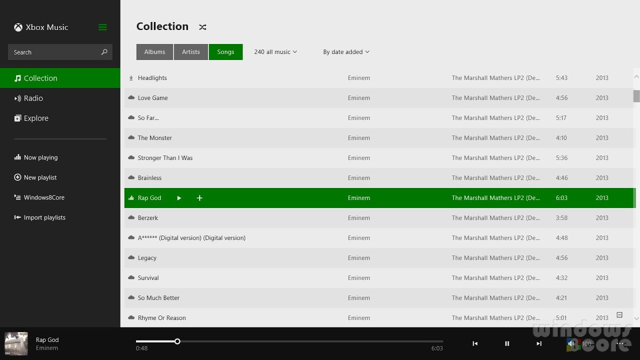 How to create windows 8 software xbox music player design for Music studio design software