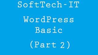 Basic WordPress - Part 2 ( install WordPress via Wamp Server )