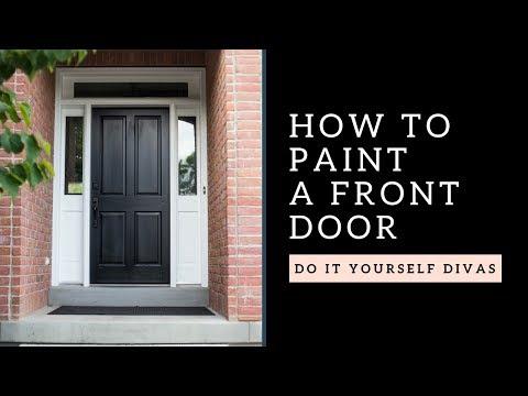 DIY: How To Paint A Wooden Front Door
