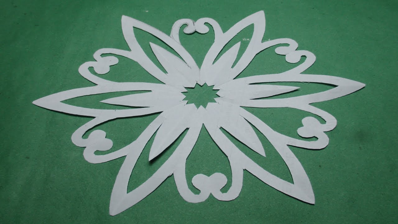 How To Make Simple Easy Paper Cutting Flower Designspaper Flowers