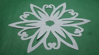 How to make simple &easy paper cutting flower designs/paper flowers/DIY Instructions  step by step.