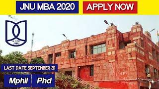 JNU MBA 2020 Details.. | Mphil, Phd | Eligibility, other details