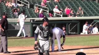 Justin O'Conner Throwdown Game Action AFL 2014 00789