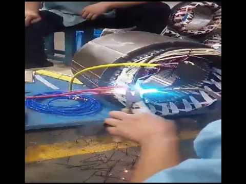 electric motors copper magnet wire welding-enameled wire welding