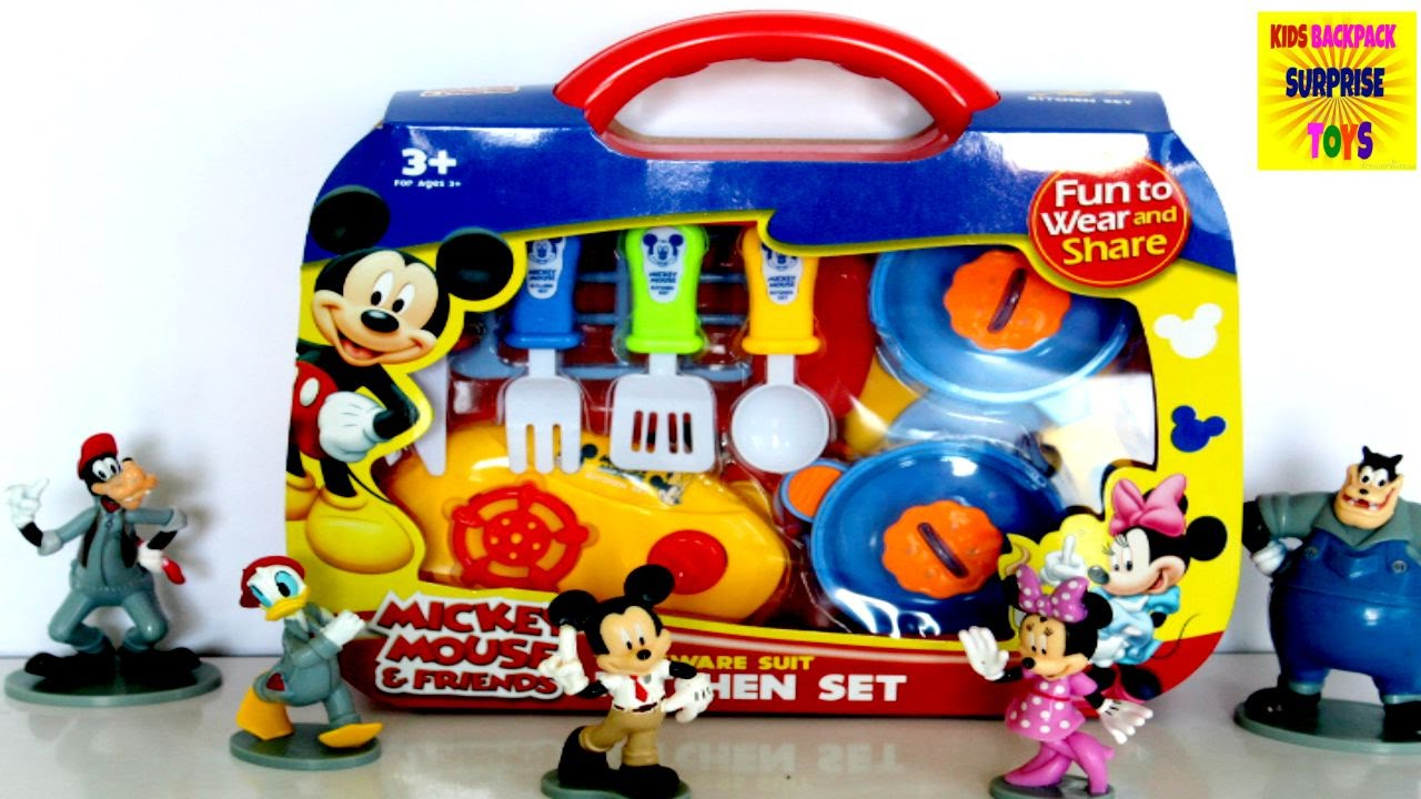 Mickey Mouse Clubhouse Disney Mickey And Minnie Mouse Lunch Box Kitchen  Playset For Kids   YouTube
