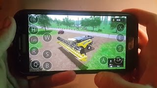 Farming simulator 2017 on Android(samsung galaxy s7) ep3.sosnovka map